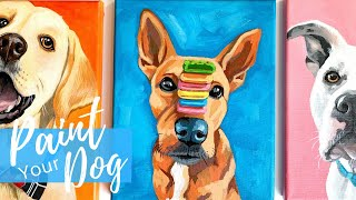 Painting Your Dog In Acrylics | Easy Beginner Level