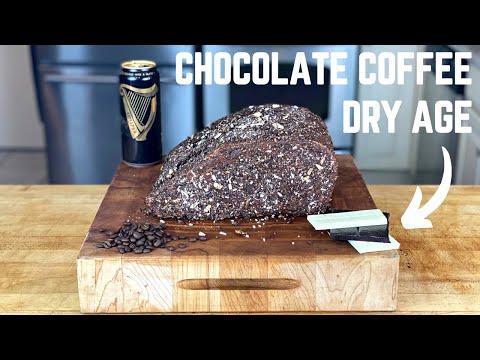 Chocolate & Coffee Dry Aged Ribeye #shorts