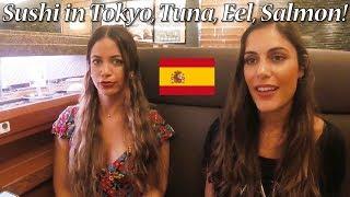 【三浦三崎港】スペイン人女子!回転寿司で新鮮マグロを大絶賛!Conveyor-belt Sushi In Tokyo!