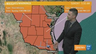 Ryan Shoptaugh's KIII South Texas Forecast: Cloudy Skies, Hazy Sunshine and Isolated Rain