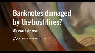 Claiming bushfire damaged banknotes