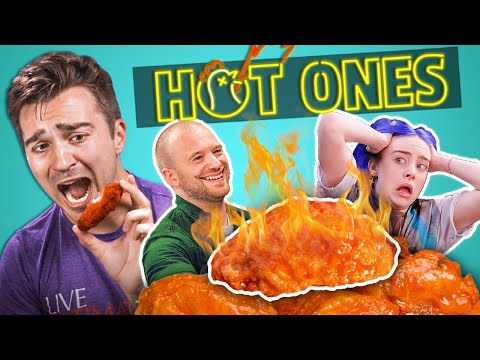 Adults React To Hot Ones