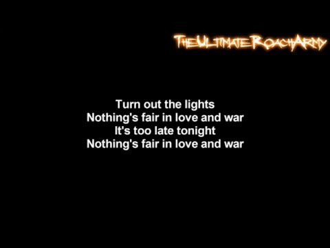 Three Days Grace - Nothing's Fair In Love And War [Lyrics on screen] HD