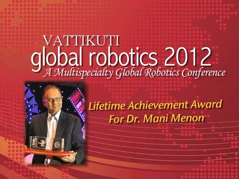 Dr. Mani Menon Lifetime Achievement Award