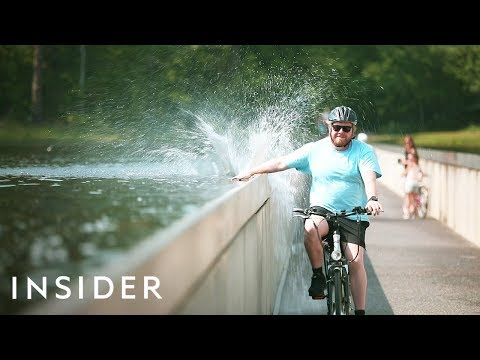 Belgium's Bike Way Through Water