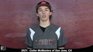 2021 Colter McMasters Catcher, Outfield and Pitcher Baseball Skills Video