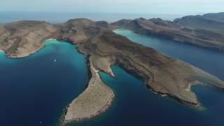 Aerial Video of Espiritu Santo, Los Islotes and the Sea of Cortez