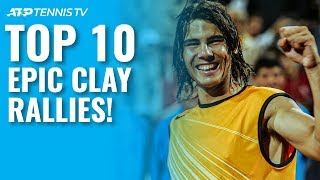 Top 10 Epic ATP Clay-Court Rallies!