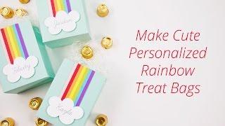 DIY Die Cut Personalized Rainbow Treat & Favor Bags