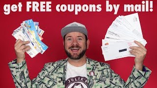 ✂️ FREE COUPONS! How to get free grocery coupons by mail!