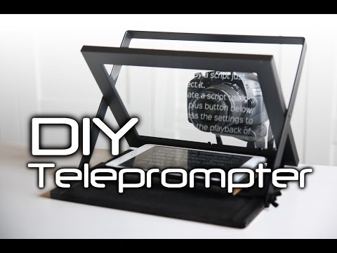 How to make a DIY Teleprompter - cheap and portable