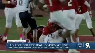 COVID concerns may affect start of high school football season in Pima County