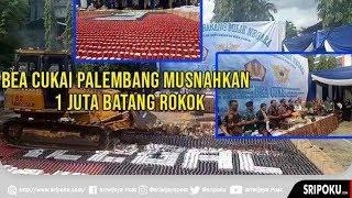 Dirjen Bea dan Cukai Palembang Musnahkan 1 Juta Batang Rokok Hasil Sitaan