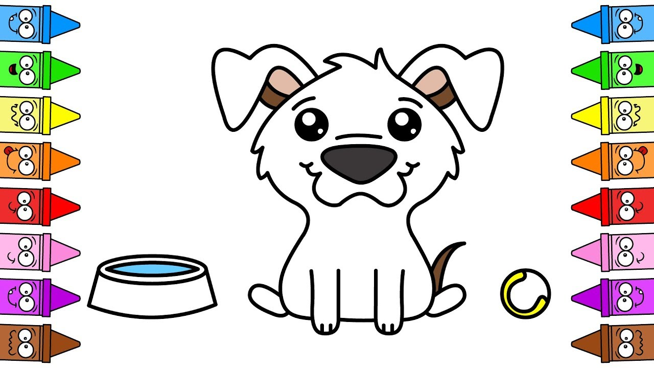 drawing dog step by step how to draw puppy easy puppy coloring pages