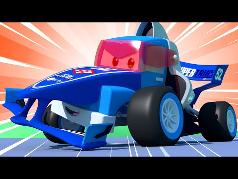 The Racing Truck ! Carl The Super Truck - Car City ! Cars And Trucks Cartoon For Kids