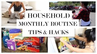Organized Home Routine - Monthly Household Tips