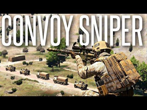 ARMED CONVOY SNIPER! - ArmA 3 Milsim Operation