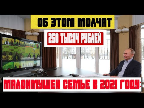 Как получить 250 тысяч рублей по социальному контракту малоимущей семье в 2021 году условия получени