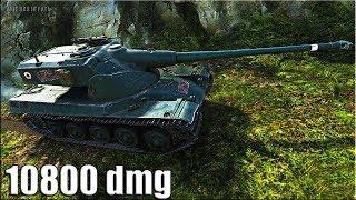 AMX 50 B 🌟 ВЗРЫВОТЕХНИК 10800 dmg 🌟 карта: Топь. World of Tanks лучший бой на тт амх 50 б