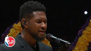 Usher sings 'Amazing Grace' to open ceremony | Remembering Kobe