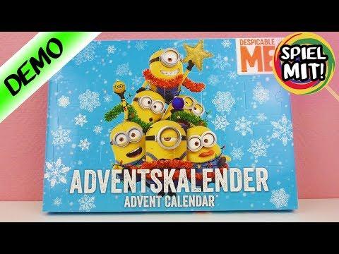 Adventskalender 2017 Minions öffnen | Wir öffnen alle 24 Türchen! | Spiel mit mir Kinderspielzeug