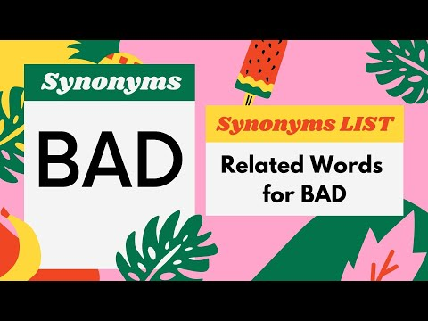 150+ Synonyms for Bad WORD | Bad - Related,Similar,Another,Example Words