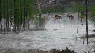 крушение. Стройка Улак- Эльга. Мост через реку Туксани.