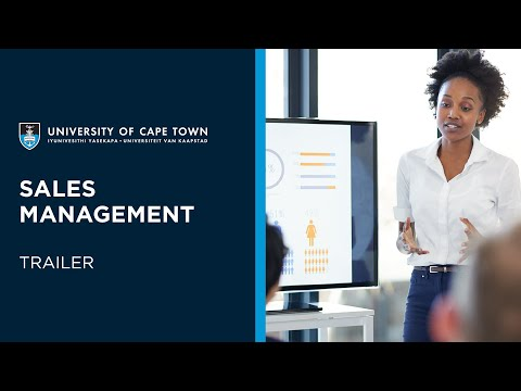 UCT Sales Management | Course Trailer
