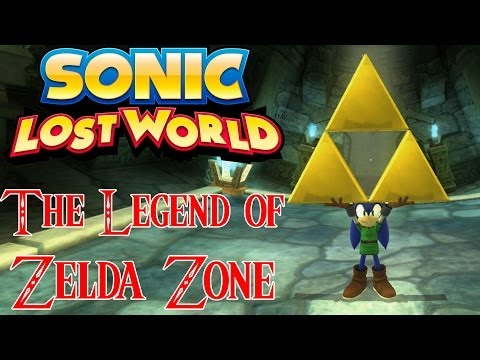 Sonic Lost World - Zelda DLC Gameplay