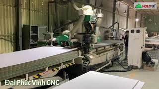 Máy cnc nesting trung tâm PRO-R1V9F trong nhà máy sản xuất cabimet tại HCM