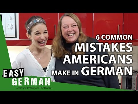 6 common Mistakes Americans make in German | Easy German 188 (with Dana from Wanted Adventure)