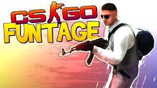 CS:GO FUNTAGE! - Crazy Noscopes, Bottle Kill & Hand-Offs!