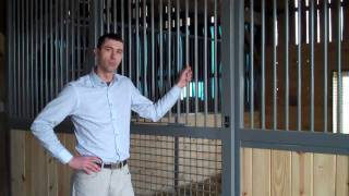 Integrated Gravity Latch For Horse Stalls