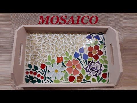Mosaico com flores
