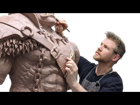 I sculpted a GIANT MONSTER and scared my friends...