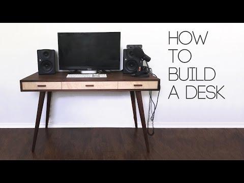Büro schreibtisch selber bauen  Schreibtisch selber bauen – Inspiration für dein Büro ...