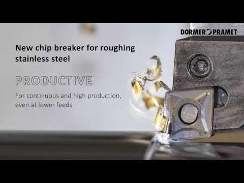 Pramet NRM-Spanbrecher zum Schruppen von rostfreiem Stahl