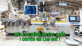 MÁY MỘNG ÂM CNC 5 ĐẦU WOODMASTER   WM-5CNC