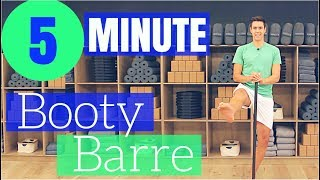 5 Minute BOOTY BARRE Workout by ZacharyFiorido