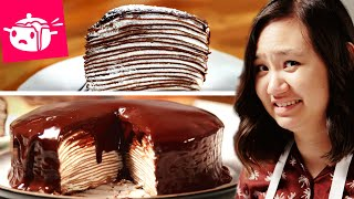 I Tried To Make This Chocolate Crepe Cake - Video Youtube