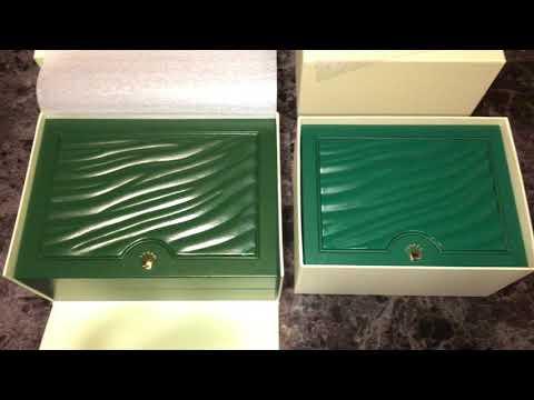 Rolex Authentic Watch Box Comparison New vs Old Review Pre 2014 vs Post 2015