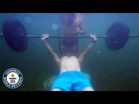 Underwater Bench Press World Record