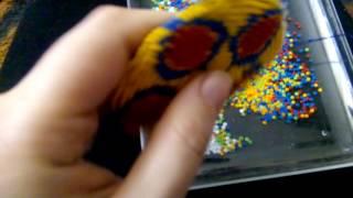 Как сделать бахрому на бисерном круге для АТС пояса