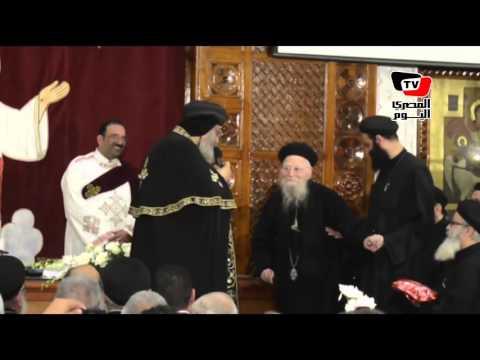 البابا تواضروس يلقى عظته من كنيسة مارجرجس بالاسكندرية