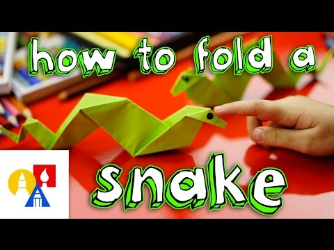 How To Fold An Origami Snake | Safe Videos for Kids - photo#1