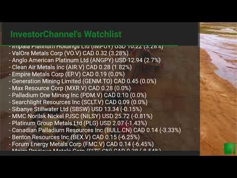 InvestorChannel's Palladium Watchlist Update for Friday, S ... Thumbnail