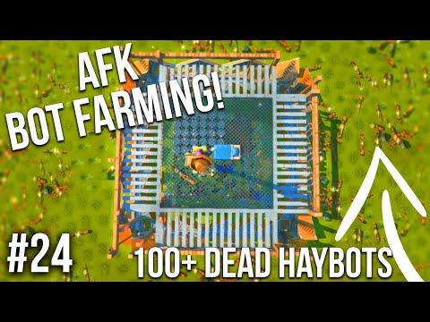 I BUILT AN AFK BOT FARM/100+ BOTS DEAD!! - SCRAP MECHANICS SURVIVAL #24