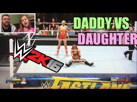 WWE2K16 DADDY VS CUTE DAUGHTER DIVA DLC! Becky Lynch vs Alundra Blayze FASTLANE PPV!