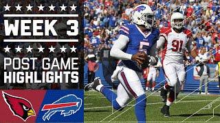 Cardinals vs. Bills   NFL Week 3 Game Highlights