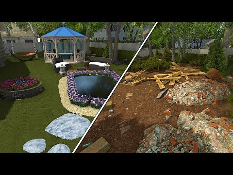 Satisfying Garden Transformation - Garden Flipper (House Flipper DLC)